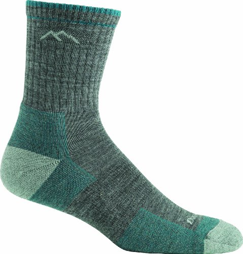 Darn Tough Vermont Women's Merino Wool Micro Crew Cushion Socks, Slate, Small