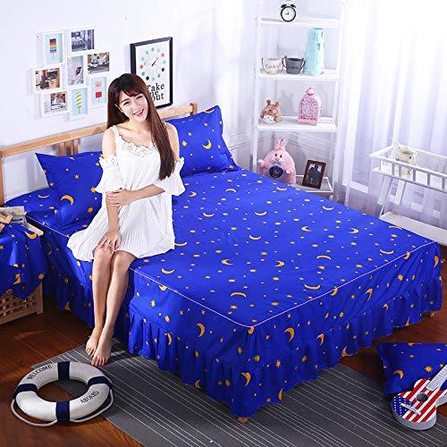 Se Utiliza para la Cubierta de Cama Conjunto de Cama Falda de Cama de una Sola Pieza Princesa Hojas de Cubierta de Cama 1.8/1.5/2.0m 1.8x2.0m