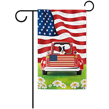 Border Collie Dog Family Let It Snow Christmas Gift House Flag Garden Flag