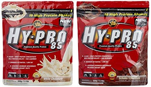 All stars Hy-Pro 85 Beutel 2er Mix Pack (2 x 500 g) Schoko/White Chocolate, 1er Pack (1 x 1 kg)