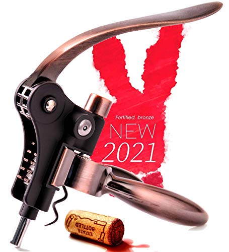Wine Corkscrew Opener Rabitt - Style Set Bottle Opener Wine Opener Wine Accessories RedNoel Opener Wine Corkscrew Opener Lever Cork Wine Kit: With Foil Cutter,Wine Stopper And Extra Spiral (Bronze)
