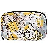 TIZORAX Bolsas de cosméticos Acuarela Flor Tacones altos Práctico artículo de tocador Bolsa de viaje Organizador Bolsa de maquillaje para mujeres Niñas