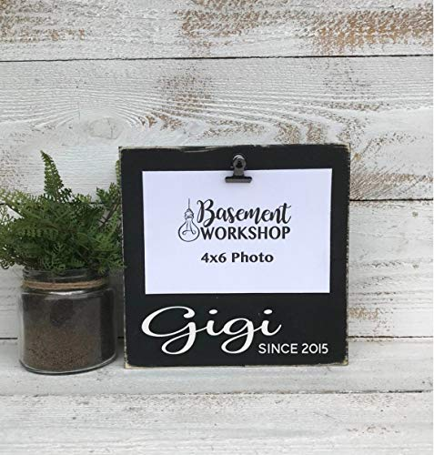 by Unbranded Gigi marco de fotos bloque de fotos tablero madera signo clip marco regalo para la abuela cualquier abuela nombre nuevo gigi