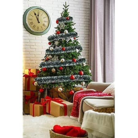 6 Meter New Tinsel 2020 Red Christmas Decoration Tinsels