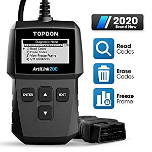 Code Reading/Scanning🔥AL200 OBD2 code reader works on MOST 1996 and newer vehicles, regardless of makes and models sold in the US, Europe, and Asia. It can help you read DTCs (diagnostic trouble codes) when the MIL is on. Additionally, the built-in D...