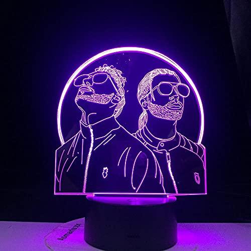 Anime luces 3D LED noche luz cambiante color noche lámpara dormitorio iluminación ventiladores suprise regalos LED noche luces