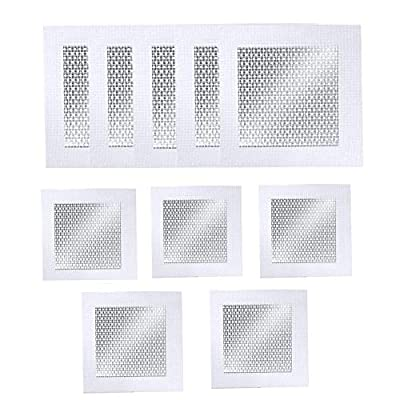 """Fbaby 10 Pieces Aluminum Wall Repair Patch Self Adhesive, Heavy Duty Dry Wall Hole Repair Patch, Mesh Wall Patches Screen Patch Repair for Walls Ceilings Drywall Wall Patch Stickers Tool (4""""+ 6"""")"""