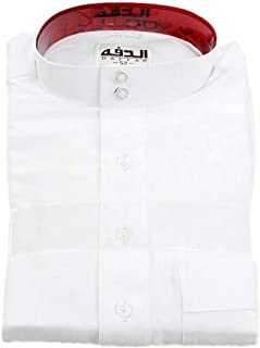 Tymhgt Men Mandarin Neck Long Sleeve Thobe Kaftan Kamani Islamic Clothing Muslim