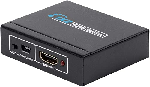 discount Monoprice Blackbird 4K Mini 1x2 HDMI Splitter - 1x HDMI online sale Input, 2x HDMI Output, 1 Source to 2 High-Resolution Displays, USB-Powered, 891 Mbps, online (Compatible with PS4/5 Xbox Apple TV Fire Stick Roku outlet online sale