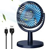 Best Travel Fans - 2021 Newest Small Desk Fan with 4 Speeds Review