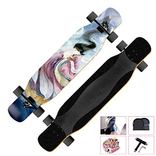 Skateboard per Principianti, con Kit di Riparazione Longboard Skateboard Dancing, Cruising, Curving,...