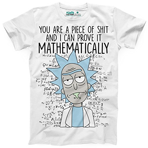 Kanto Factory T-Shirt Rick et Morty You are a Piece of Shit and i Can Prove it mathematically (XXL)