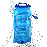 Hydration Bladder, 3 L 2 L 1.5 L Water Bladder BPA Free, 3 Liter Large Opening Water Reservoir, Leak Proof Military Water Storage Bladder Bag for Cycling Hiking Camping Biking Running (2L)
