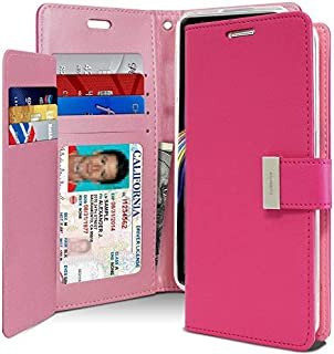 Samsung Galaxy Note 9 Leather Protection Wallet case, Pink