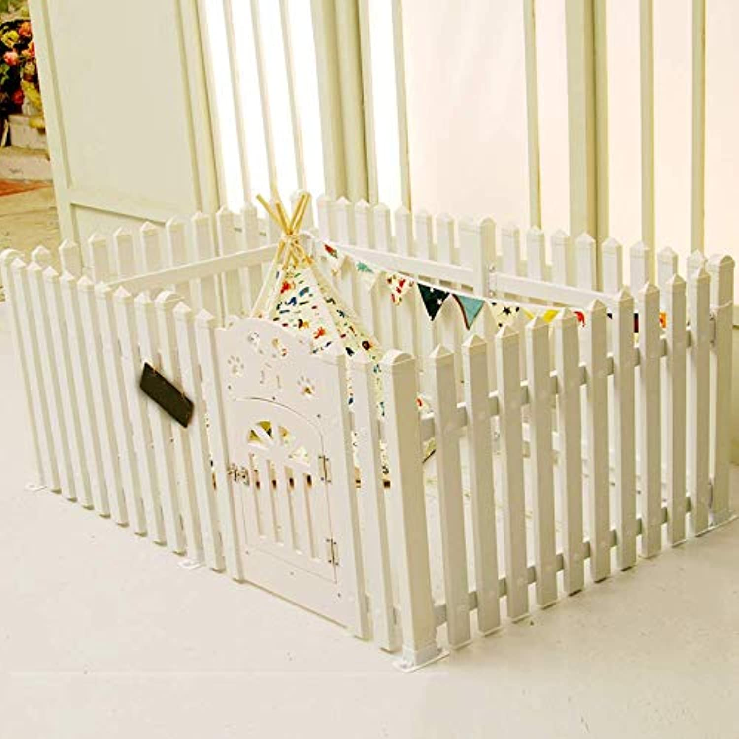 Pet fence, PVC indoor detachable dog cat fence, suitable for small and medium dogs  4 colors (100  80  70cm)