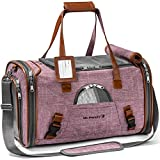 Mr. Peanut's Airline Approved Soft Sided Pet Carrier, Low Profile Gold Series Tote, Premium Brand Self Locking Zippers, Under Seat Compatibility, Plush Faux Fleece Bedding with a Sturdy Plywood Base