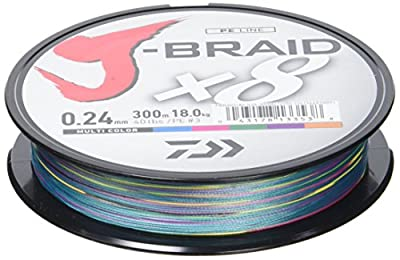 Daiwa J-Braid 8 Braid 300m multicolour - braided fishing line from Daiwa
