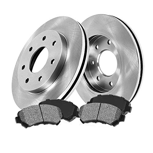 [ 4WD ] FRONT 308 mm Premium OE 7 Lug [2] Brake Disc Rotors + [4] Metallic Brake...