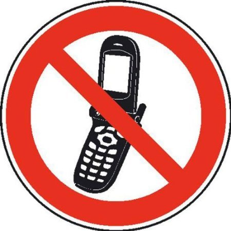 Foto-Handy benutzen verboten Verbotsschild, selbstkl. Folie , Größe 20cm
