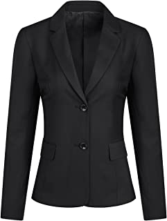 YFFUSHI Women Office Work Suit Blazer Long Sleeves Classic Formal Casual Jacket Coat