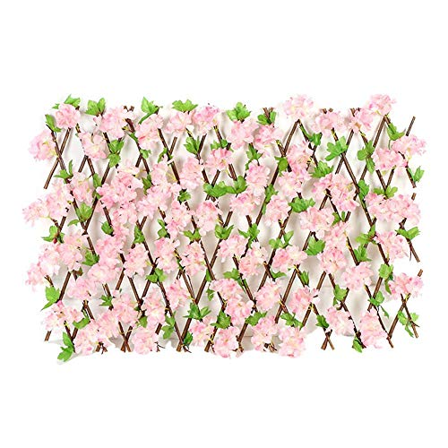 yummyfood Artificial Hedge Garden Trellis With Flower Leaves Expanding Garden Fence Garden Privacy Screen For Balconies, Courtyards, Stairs, Walls