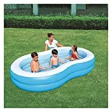 TYUIOO Piscine gonfiabili, Grandi Dimensioni 262 * 157 * 46cm, Blow Up Kiddie Pool per Family, Garden, Outdoor, Backyard