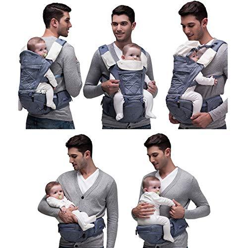 【ベビーアムール】Bebamour抱っこ紐人気ベビーキャリア新生児6wayたためるヒップシート安定性使いやすさ前向き抱っこおんぶ圧力分散(ライトグレー)