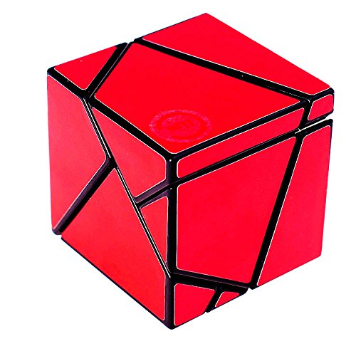 Magic Cube Ghost Cube 2x2 Velocidad Twist Puzzle DIY Brain Teaser Rojo