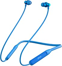 pTron Tangent Evo with 14Hrs Playback Bluetooth 5 0 Wireless Headphones with Deep Bass IPX4 Water Resistance Ergonomic Snug fit Voice Assistance Magnetic Earbuds Built in HD Mic Blue