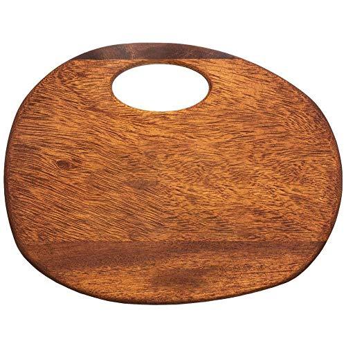 CttiuliZhb tabla de cortar, Fruta Oval tajadera Acacia cocina de madera de corte Junta tablero de frutas y verduras tabla de cortar carne cocida en bruto