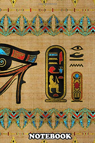 Notebook: Eye Of Horus Ornament , Journal for Writing, College Ruled Size 6