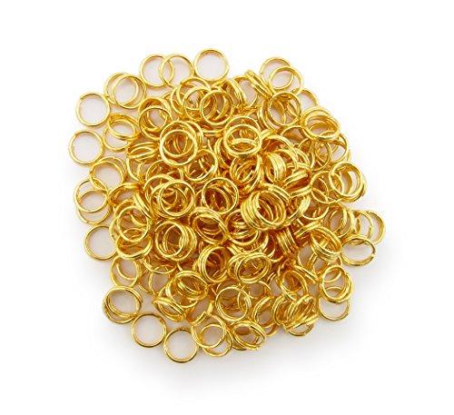 Schlüsselringe / split Rings 6mm Durchmesser Farbe Gold 15g ca.150 Stk ▶ Kostenloser Versand ◀