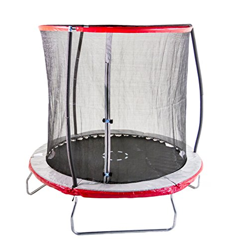 Sportspower 15 Foot Heavy Duty Outdoor Trampoline With Steelflex Enclosure Net and Poles - Meets or Exceeds ASTM Standards