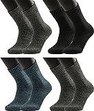 Vitasox 31029 Herren Socken Baumwollsocken Arbeitssocken mit Innenfrottee super soft extra breiter B& ohne Gummi 4 Paar47/50