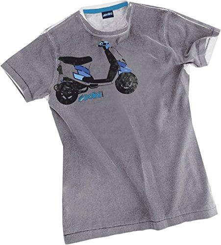 T-Shirt Polini Scooter Piaggio Zip SP grau (Verschiedene Größen)