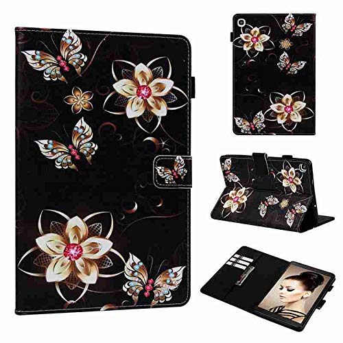 QiuKui Cases For Samsung Galaxy Tab A8 P200, Leather Stand Cover for Galaxy Tab A 7.0 T280 Tab A 8.0 T380 T350 Tab E 8.0 T375 Tab A 9.7 (Color : Gold Flower, Size : Tab E 8.0 T377 T375)