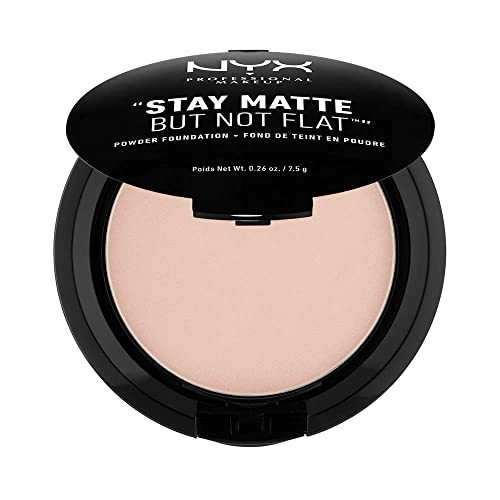NYX PROFESSIONAL MAKEUP Stay Matte but not Flat Powder Foundation, Creamy Natural, 0.26 Ounce