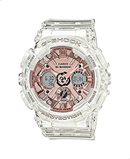 Casio G-Shock GMA-S120SR-7ADR Resin Band Analog-Digital Watch for Women - Clear and Rose Gold
