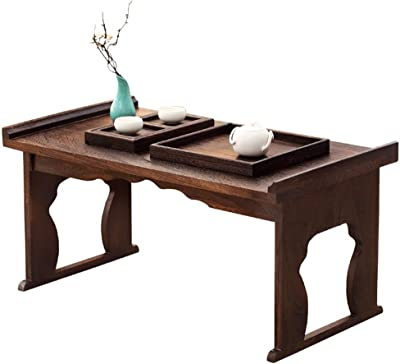 Small Coffee Table Low Table Foldable Desk Foldable Solid Wood Tatami Tea Table Bay Window Table Tea Art Low Table Japanese Style Small Platform Table Floor Table Coffee Tables