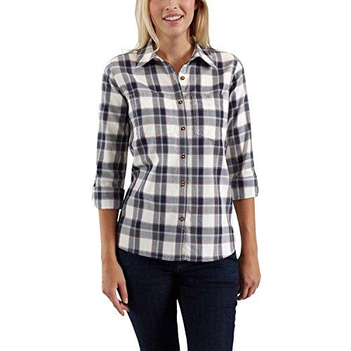 Carhartt Fairview Plaid Shirt Camisa Abotonada, Cedro Oscuro, XS para Mujer