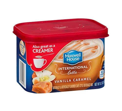 Maxwell House International Cafe Vanilla Caramel Latte Instant Coffee (8.7 oz Canister)