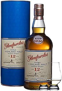 Glenfarclas 12 Jahre Single Malt Whisky 1,0 Liter  2 Glencairn Gläser