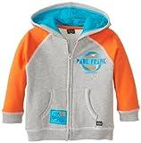 Paul Frank Little Boys' Toddler Surf Hoodie, Grey Heather, 3T