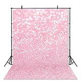 Avezano Pink Bokeh Photography Backdrop Spots Shinning Sparkle Bokeh Halos Background for Newborn Baby Portrait Photoshoot Party Decorations Photo Studio Photobooth Print Backdrops (5x7ft)