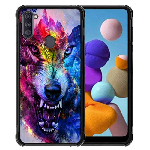 for Galaxy A11 Case,Samsung A11 Case for Girls Women Space Galaxy Nebula Wolf, ABLOOMBOX Anti Scratch Slim Bumper Shockproof Protective Case Cover Reinforced Corners