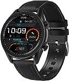 ANSUNG Relojes Inteligentes Hombre,Smartwatch con Llamada, con 24 Modos Deportivos Pulsómetro Calorías Monitor de Sueño Podómetro,IP68 Impermeable Compatible con iOS Android(Negro)