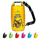 Dry Bag 2Liter 5Liter 10Liter 20Liter 30Liter & 40Liter Wasserdichte Trockentasche Seesack Survival Bag Trockensack - für Kajak Kanu Segeln Angeln Schwimmen Strand Bootfahren Camping Krake 20L gelb