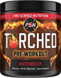 Fire Science Nutrition Torched: Natural Pre Workout – Powerful Preworkout Supplement Increases Power, Focus, Endurance and Boosts Energy + Nitric Oxide with No Jitters or Crash - Watermelon