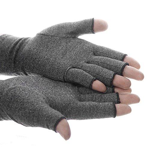 Comficent Guantes de agarre unisex Mitones de lana sin dedos material de microfibra de invierno caliente Manoplas activos Aumentar la circulación (S)