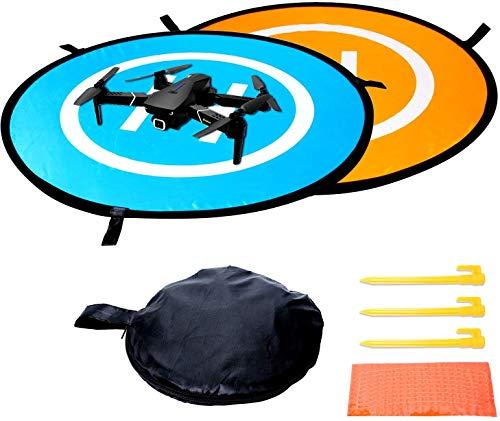 Poweka Drohnen Landeplatz Faltbar 75cm für DJI Mavic Air 2/Mini && Universal RC Drones Hubschrauber